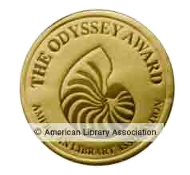 The Odyssey Award for Excellence in Audiobook Production is an annual award conferred by the American Library Association upon the publisher of the best audiobook produced for children and/or young adults, available in English in the United States.