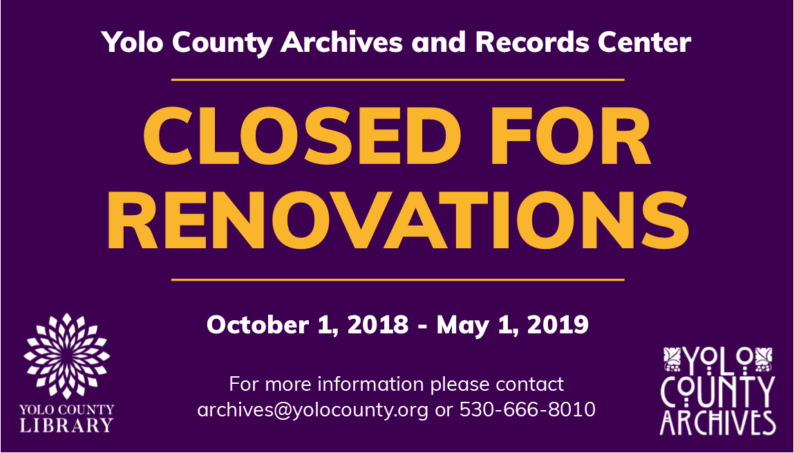 2018 Archives Closed for Renovation