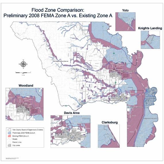 FEMA Preliminary FIRM Map Yolo County - Fema firm maps gis