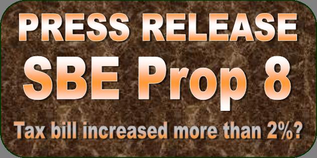 BOE Press Release - Prop 8