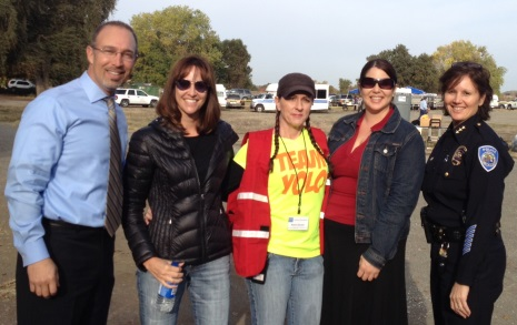Supervisor Oscar Villegas, Public Defender Tracie Olson, Mental Health Director Karen Larson and others