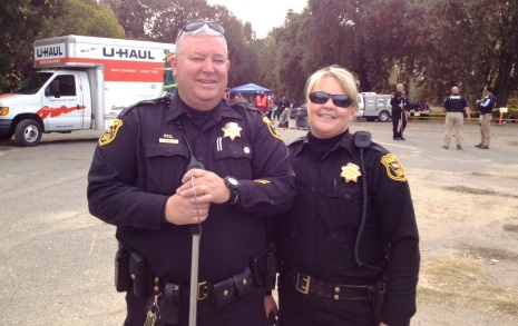 Animal Services Officers at Bridge to Housing Project