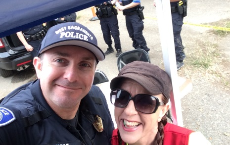 WS Officer and Karen Larson at Bridge to Housing Project
