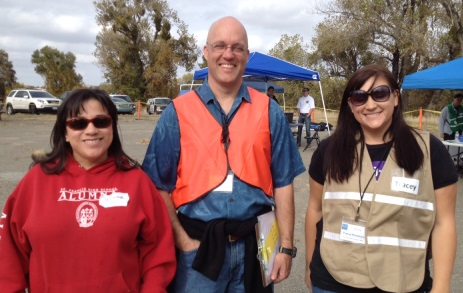 Jennifer Perez, Supervisor Matt Rexroad and Tracey Dickinson at Bridge to Housing