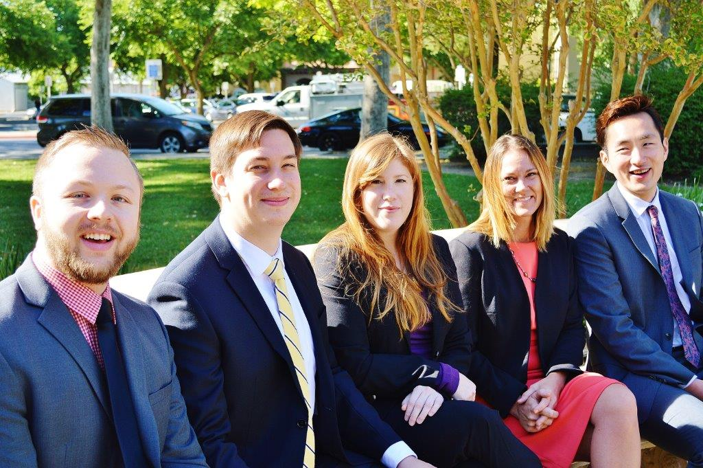 Our 2015 Legal Interns from Left to Right: Ben Pelt, Adam Brizzolara, Karly McCrory, Ahnna Reicks, & Sun Seo.