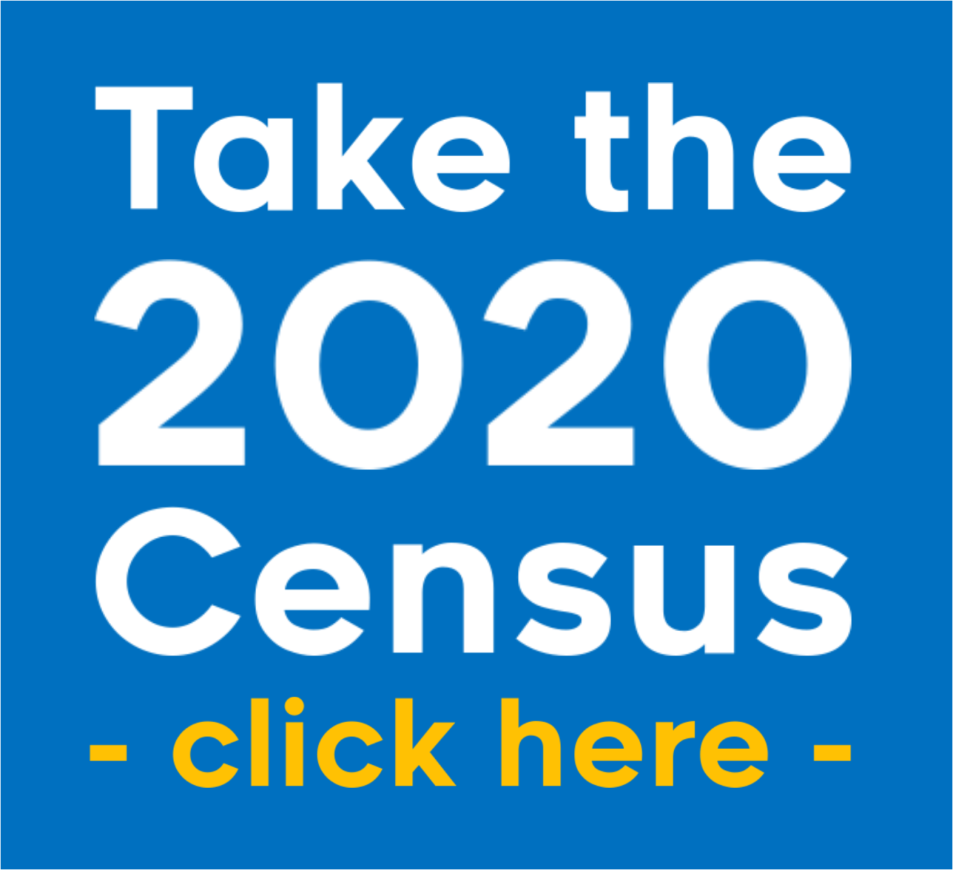 Take the 2020 Census web badge (Blue)