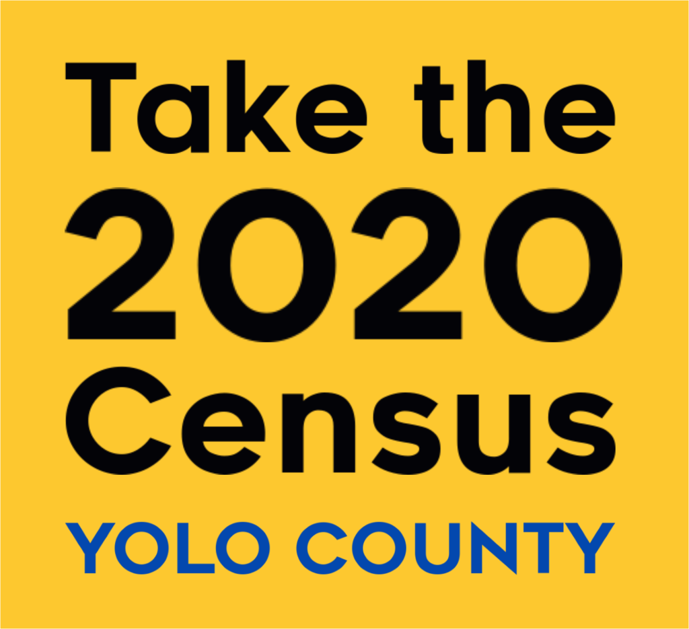 Take the 2020 Census web badge (Yellow)