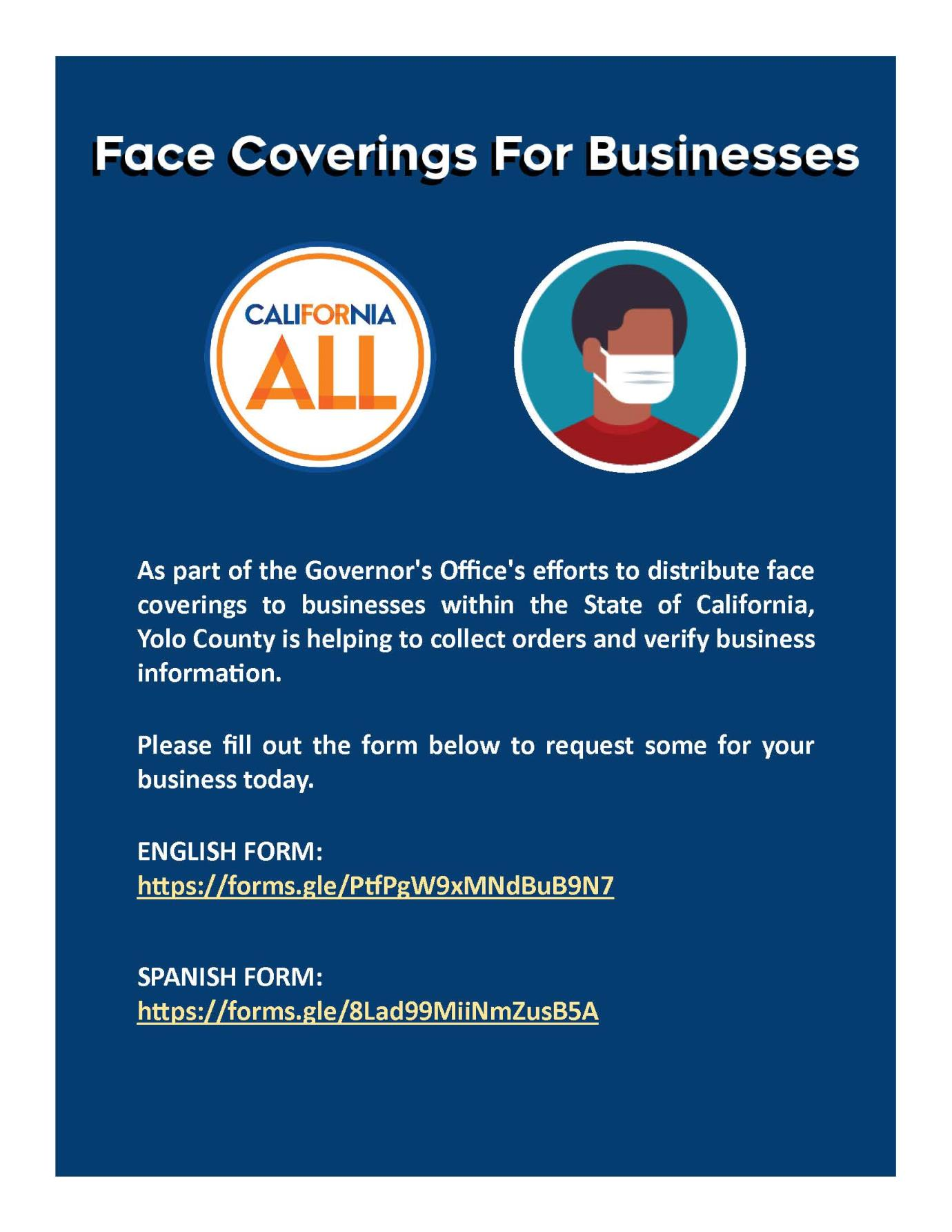 Business Face Covering Distribution (8 x 11)