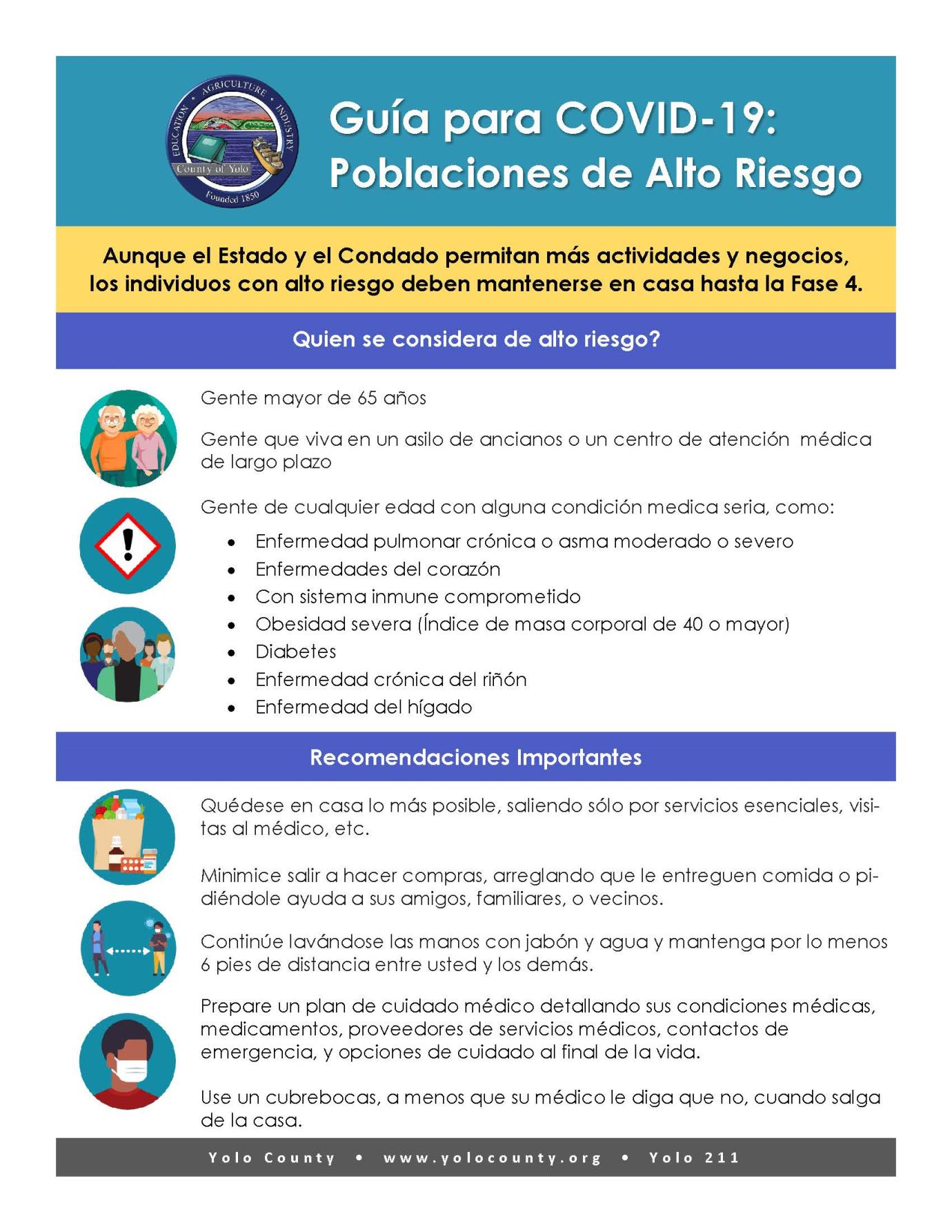 High Risk Populations Infographic SPANISH