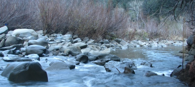 Winter Cache Creek Flow