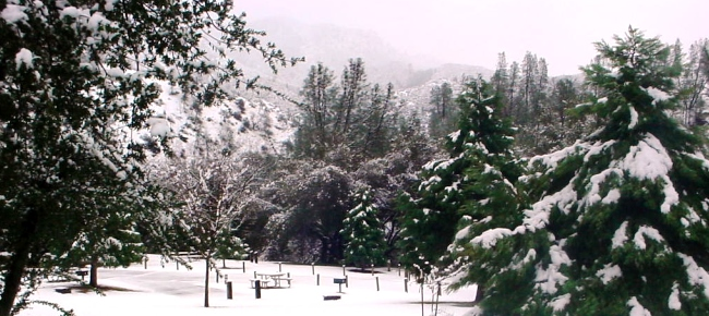Winter Snowy Cache Creek Park
