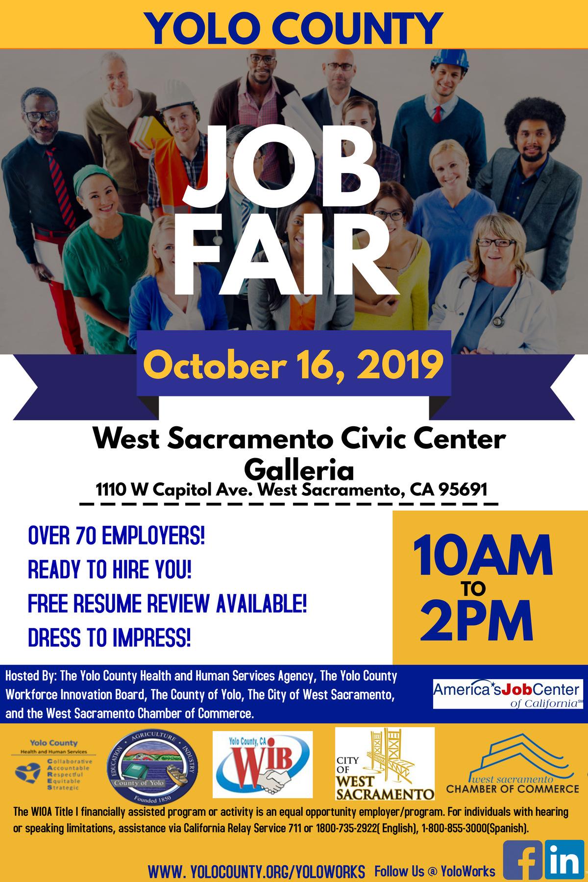 October 16th Job Fair Flyer Social Media