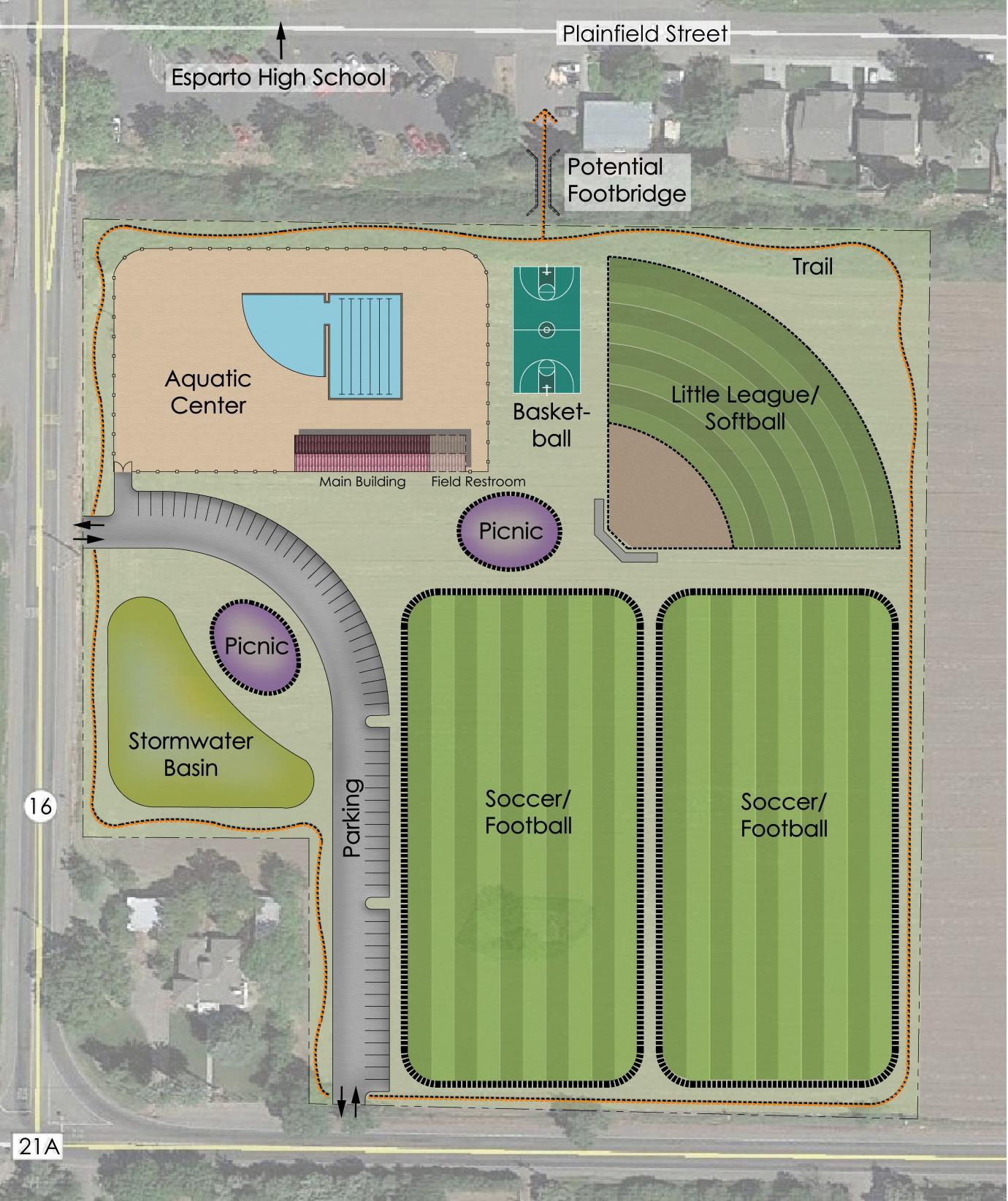 Esparto Communty Park Aquatic Center Site Plan_maponly